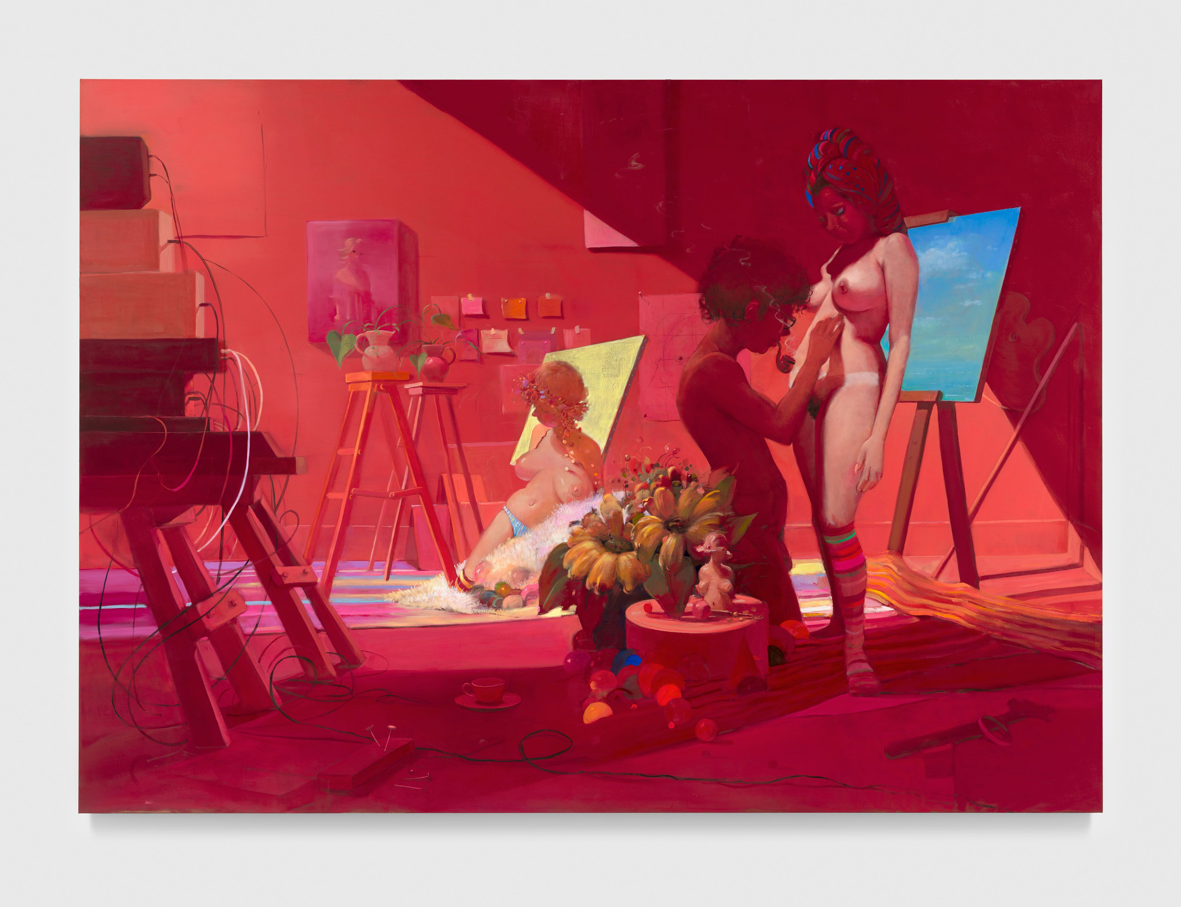 Lisa Yuskavage, Night Classes at the Department of Painting Drawing and Sculpture, 2018-2020.