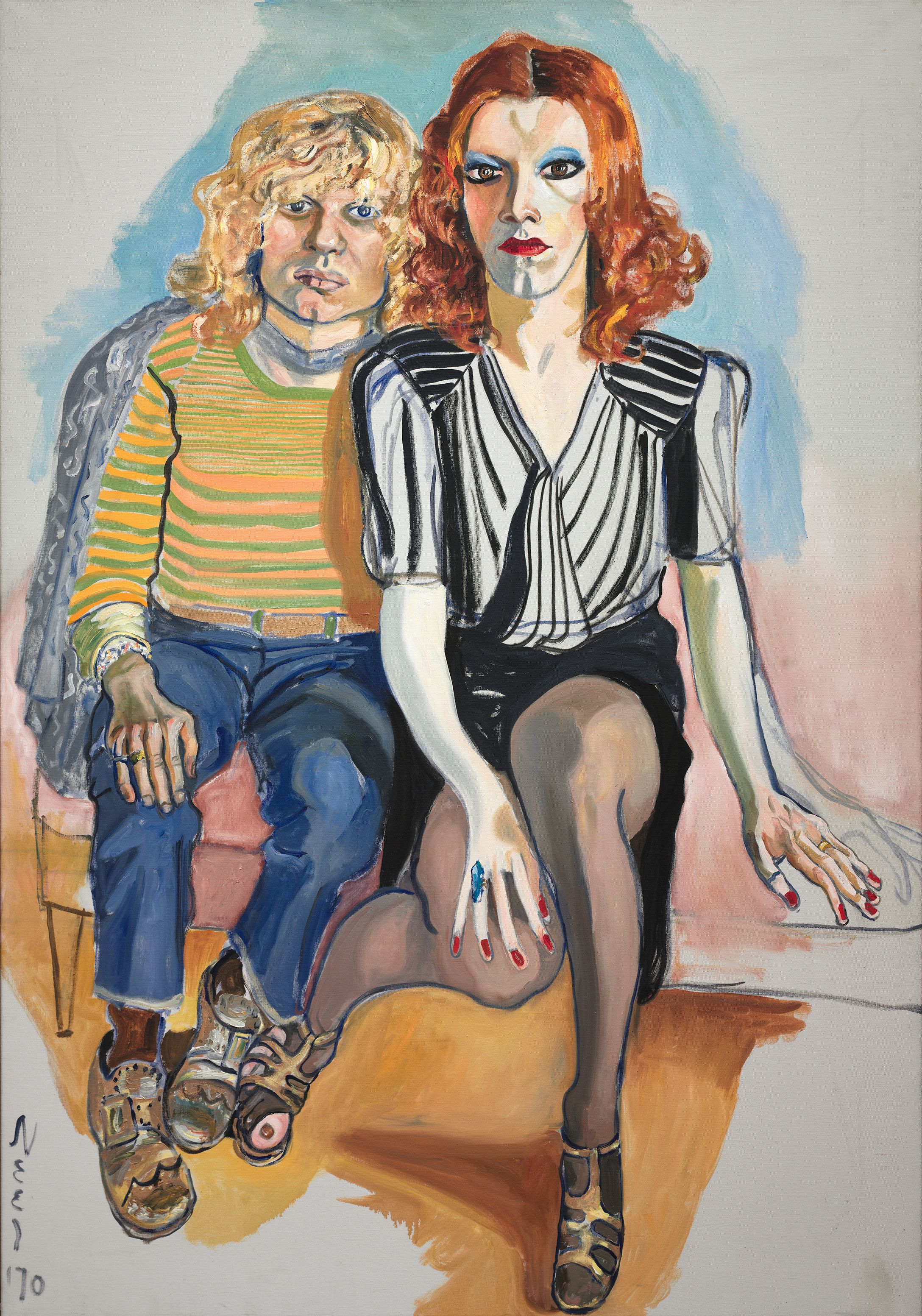 Alice Neel, (American, 1900–1984), Jackie Curtis and Ritta Redd, 1970, from