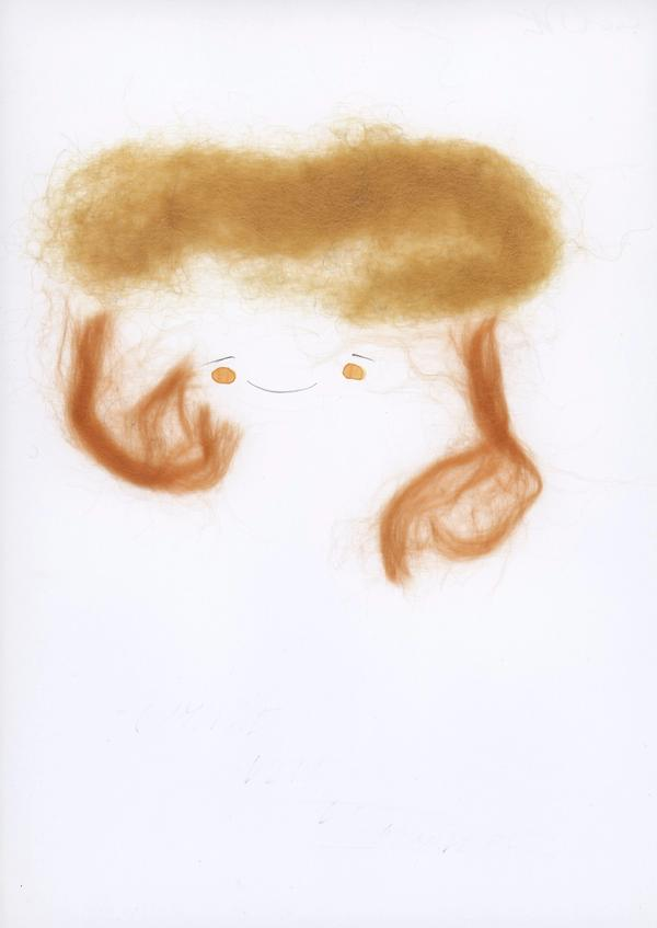 Lisa Ponti, Untitled. Pencil, fabric and watercolor on paper,