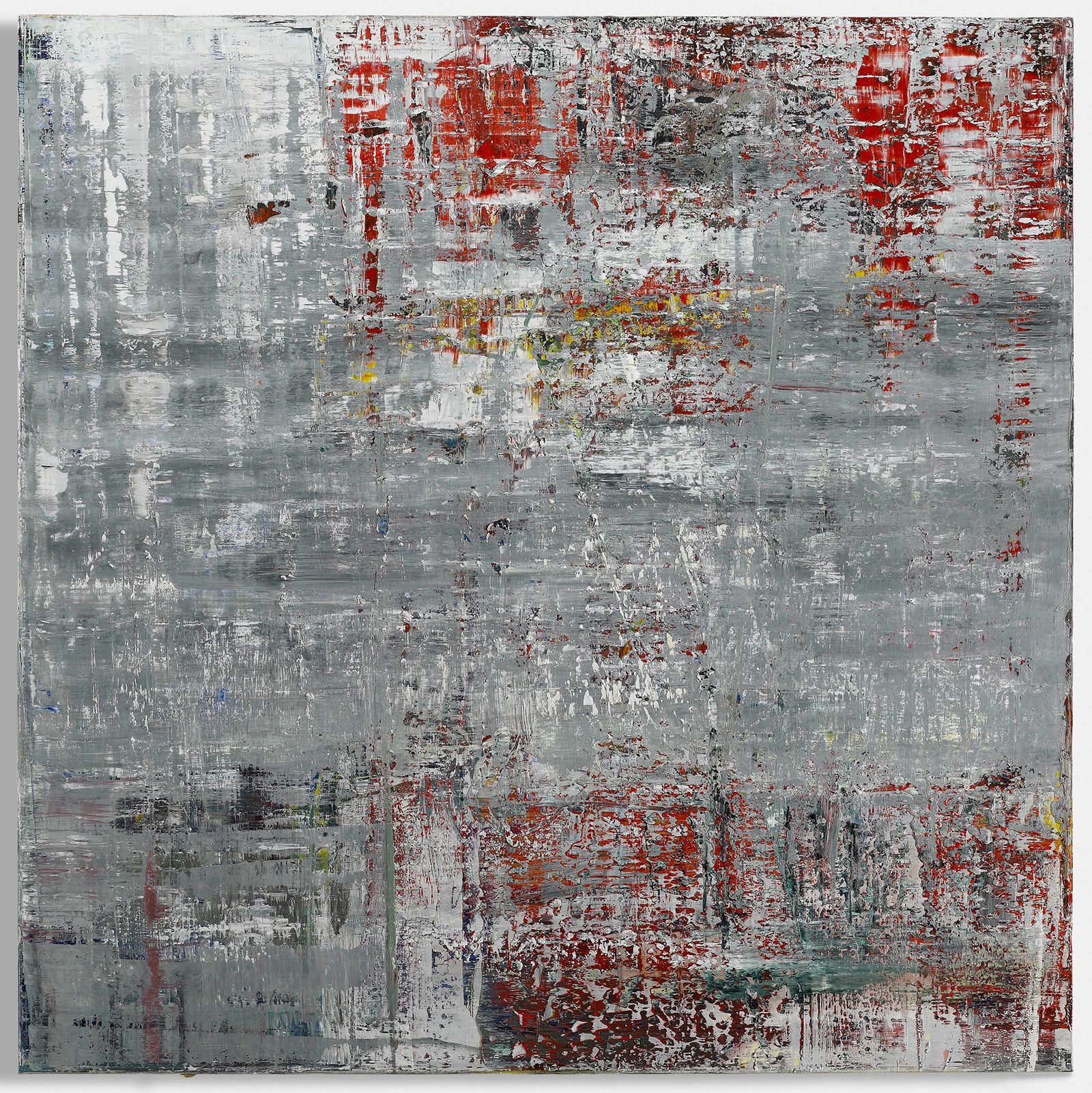 Gerhard Richter, Cage 4, 2006. Oil on canvas, 114 1/4 x 114 1/4 inches