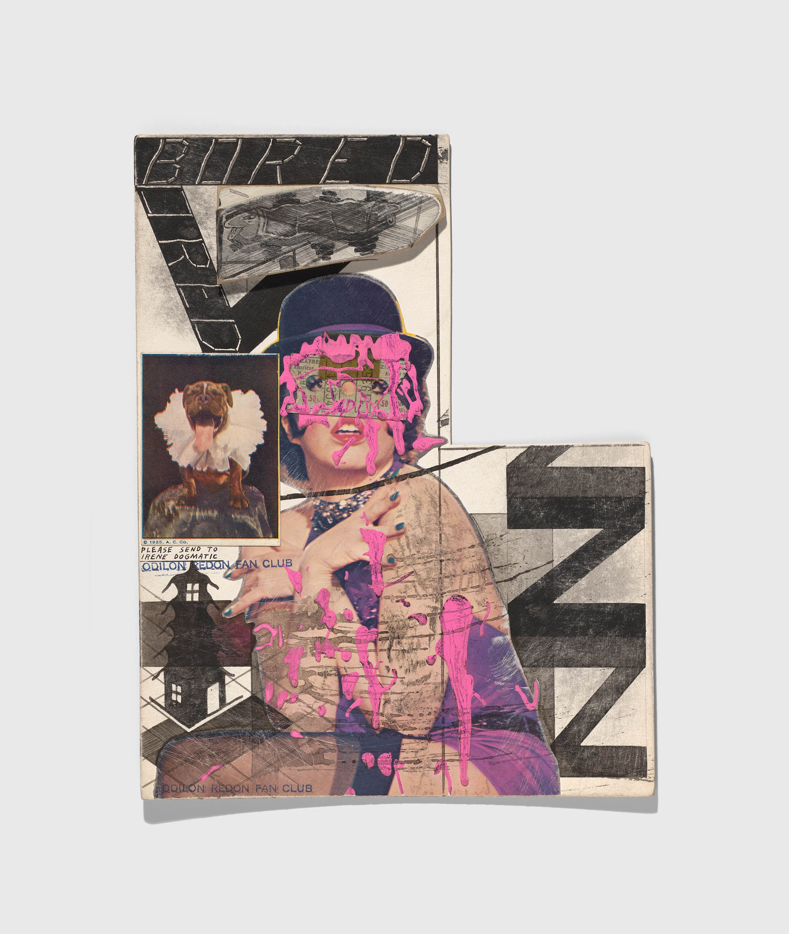 Ray Johnson, Untitled (Liza Minnelli with Pink Paint), n.d.