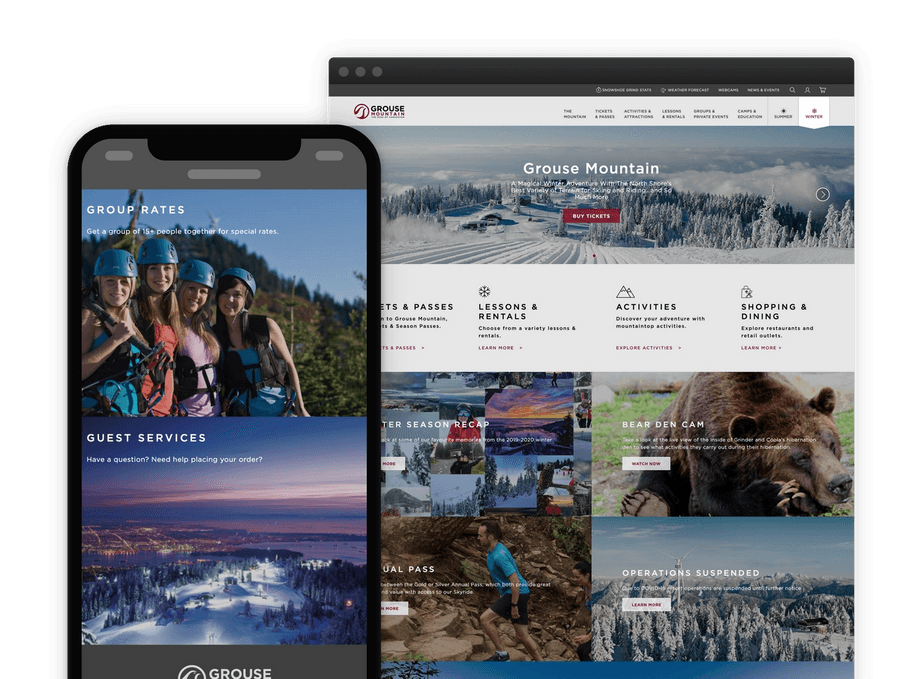Grouse Mountain Custom eCommerce Resort Platform