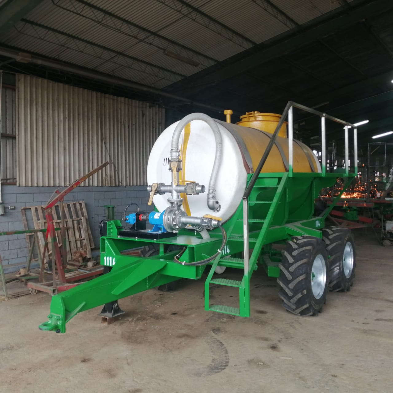 78% reduction in spray boom loading time