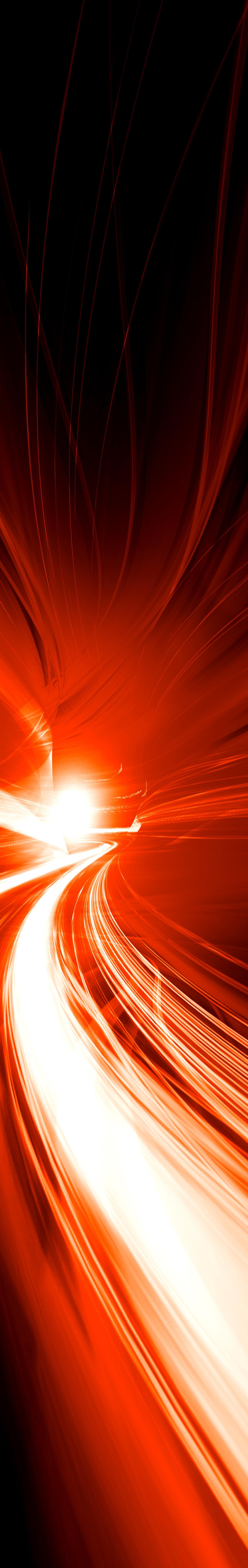 Faisceaux lumineux rouges et jaunes sur fond noir