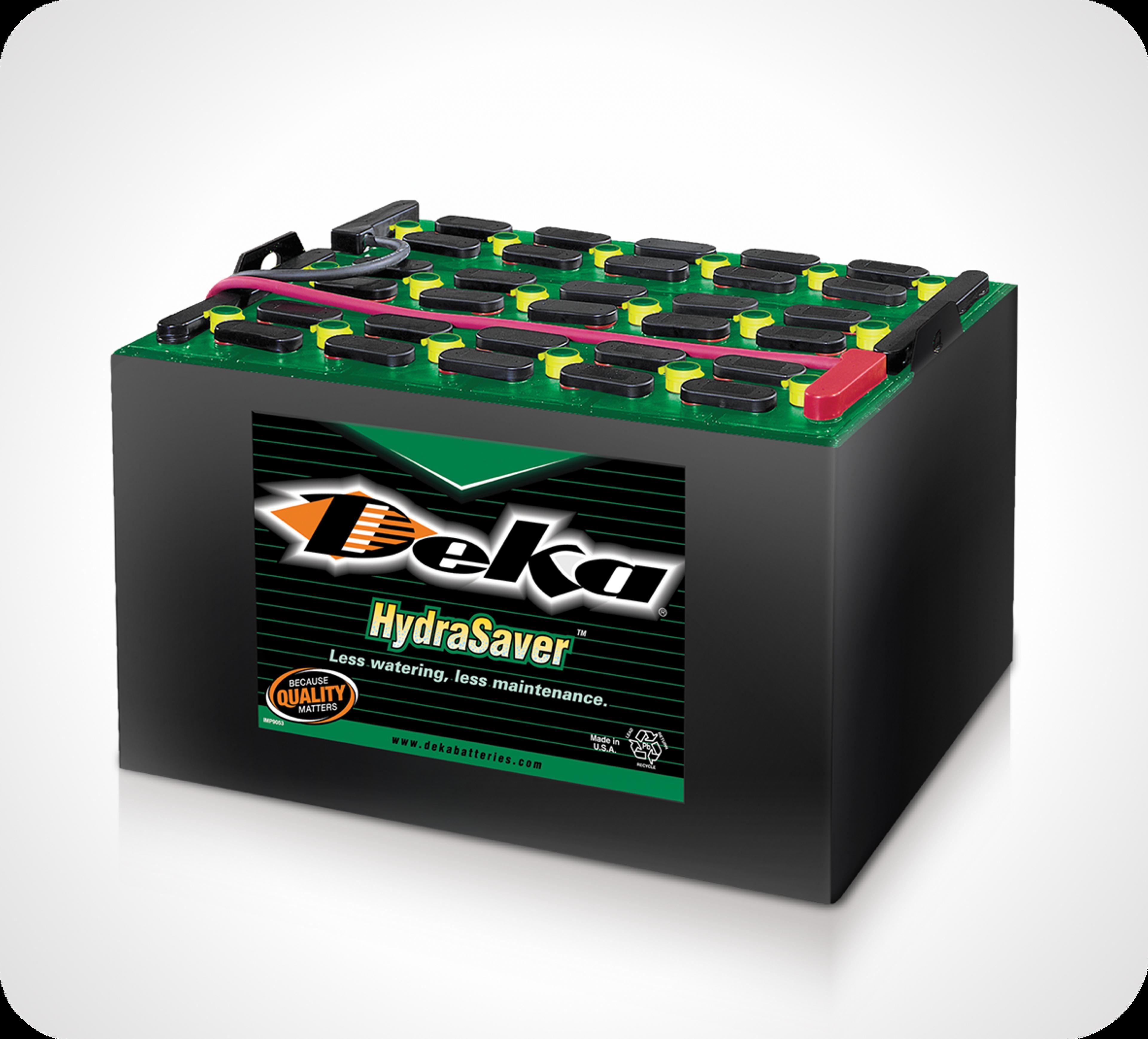 Photo de batteries supérieures de manutention Deka HydraSaver de marque East Penn