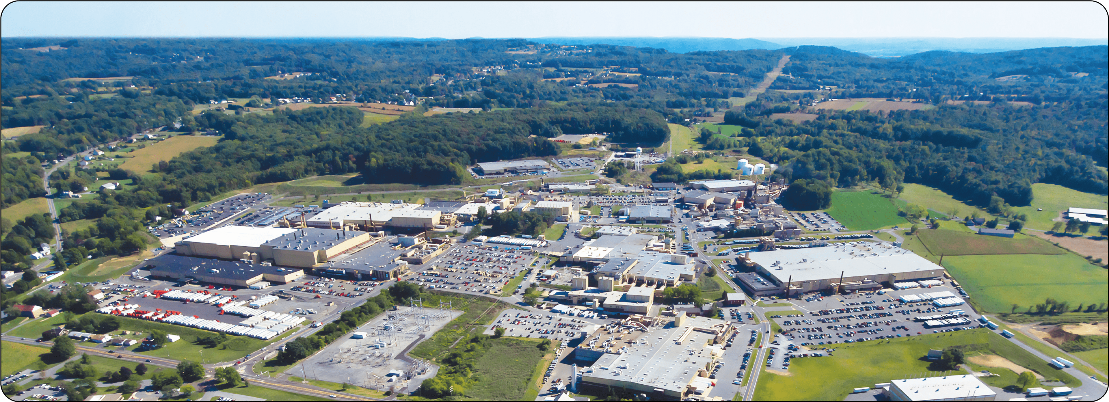 Bird's eye view picture of East Penn manufacturing facility