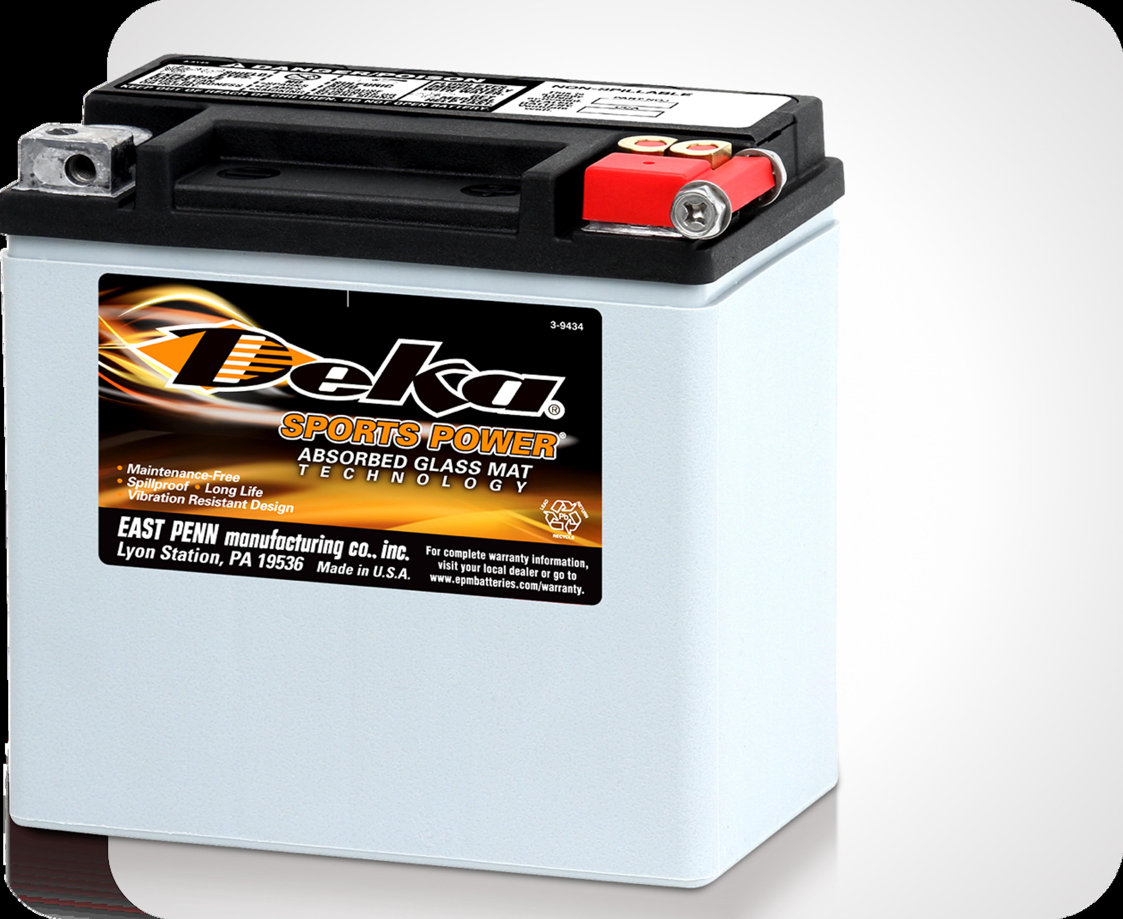 Photo de batteries AGM Deka ETX Power Sports