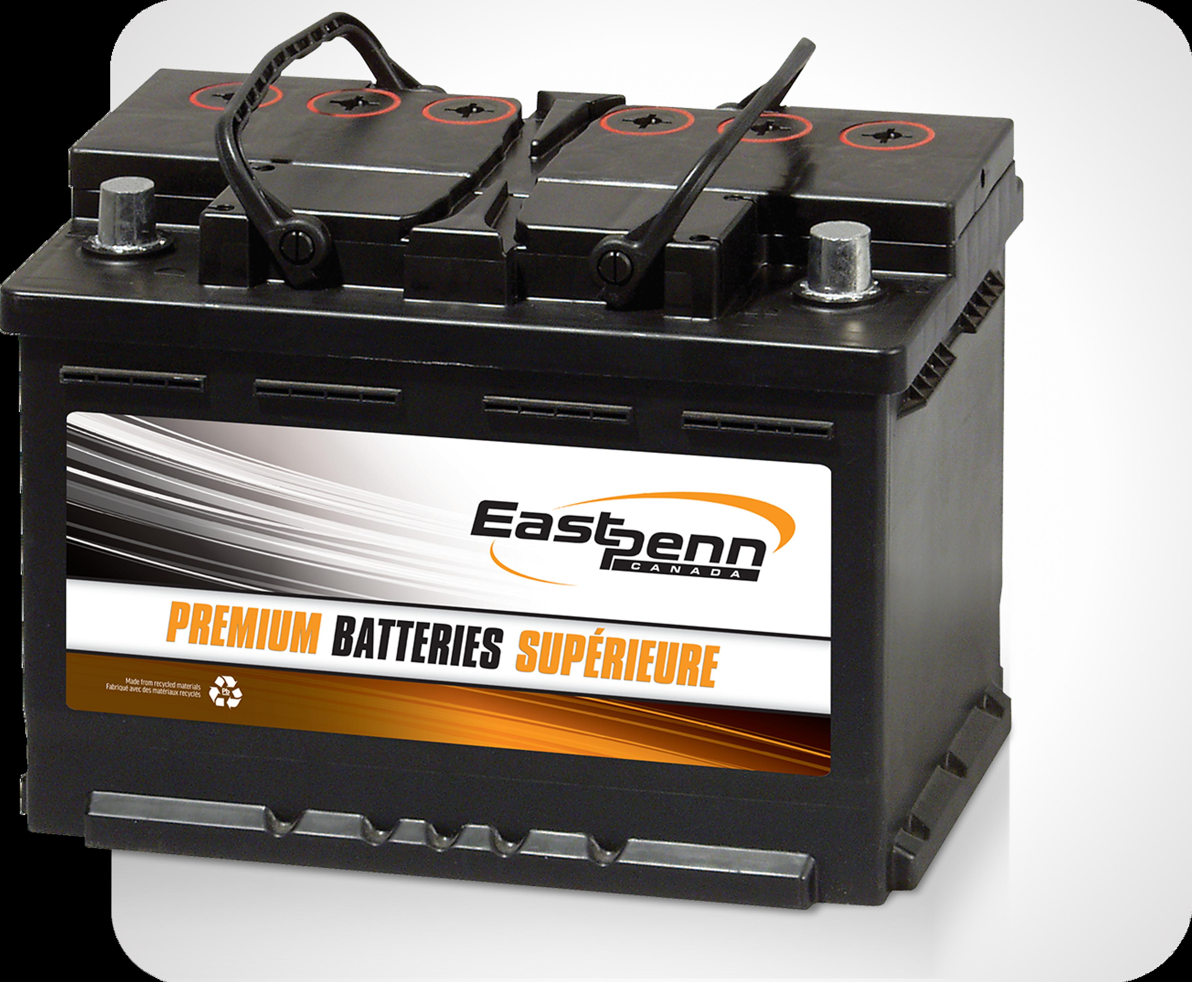 Picture of single East Penn brand premium car starting batteries