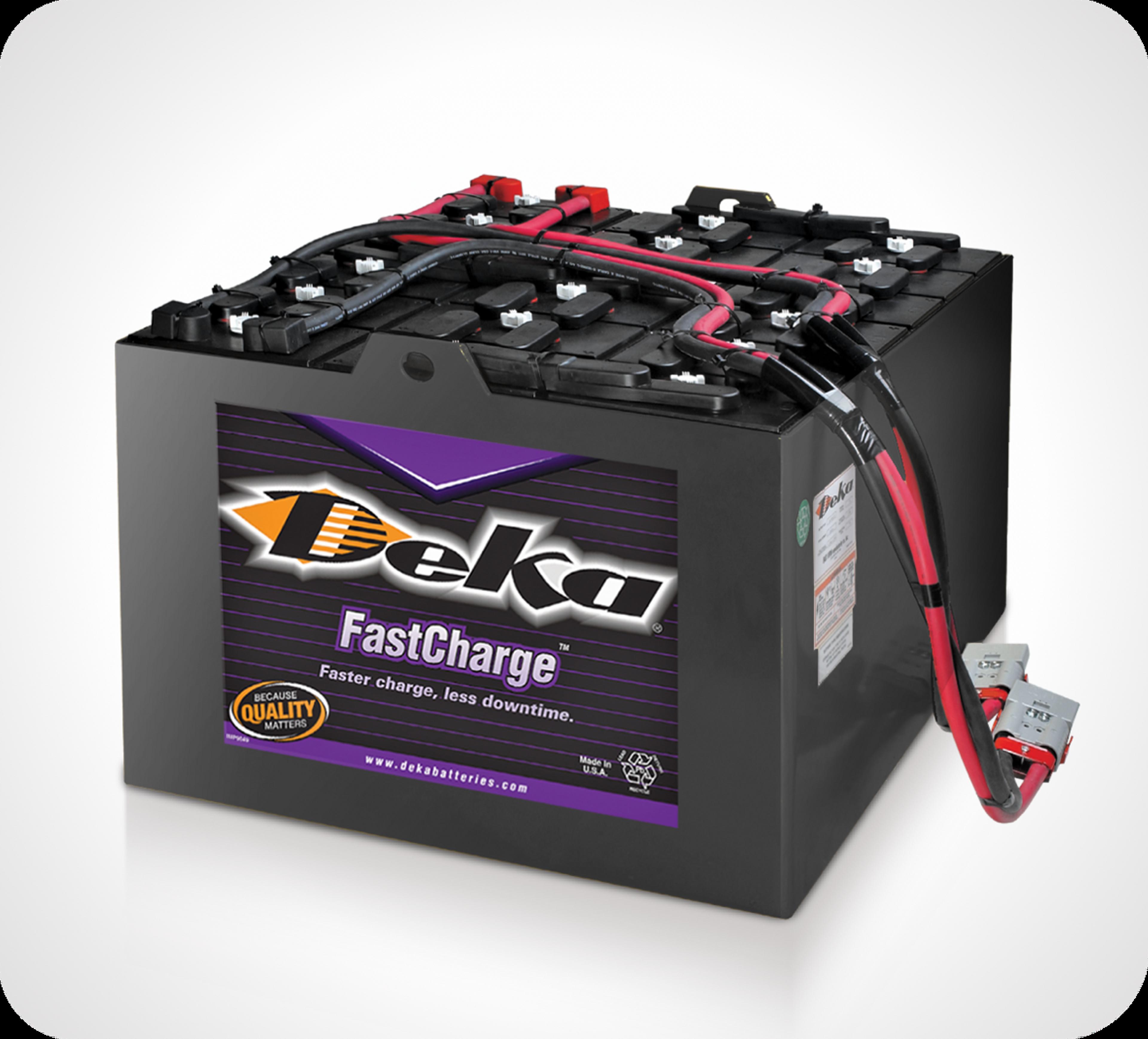 Photo de batteries supérieures de manutention Deka FastCharge de marque East Penn
