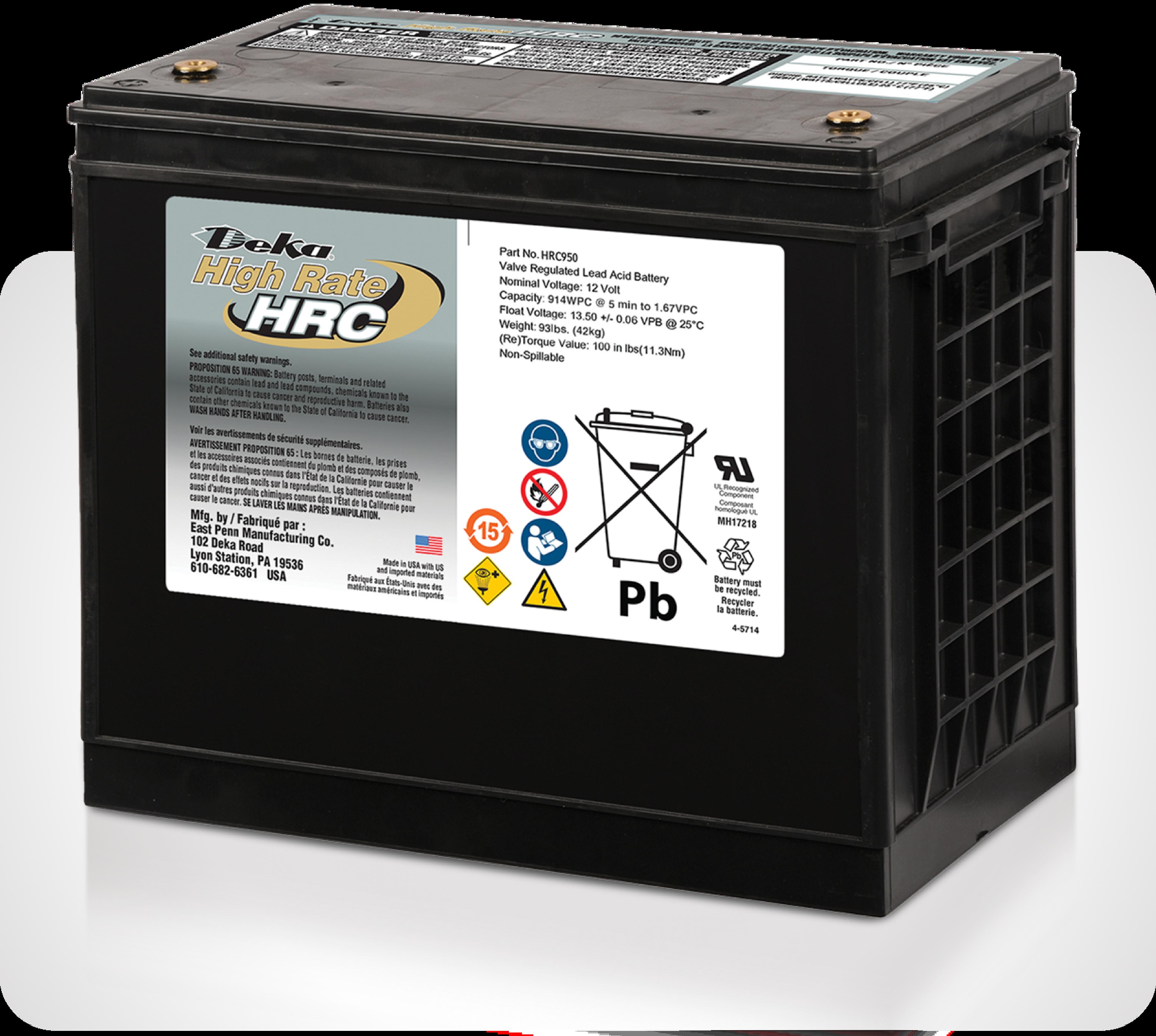 Photo de batterie Deka High Rate HRC