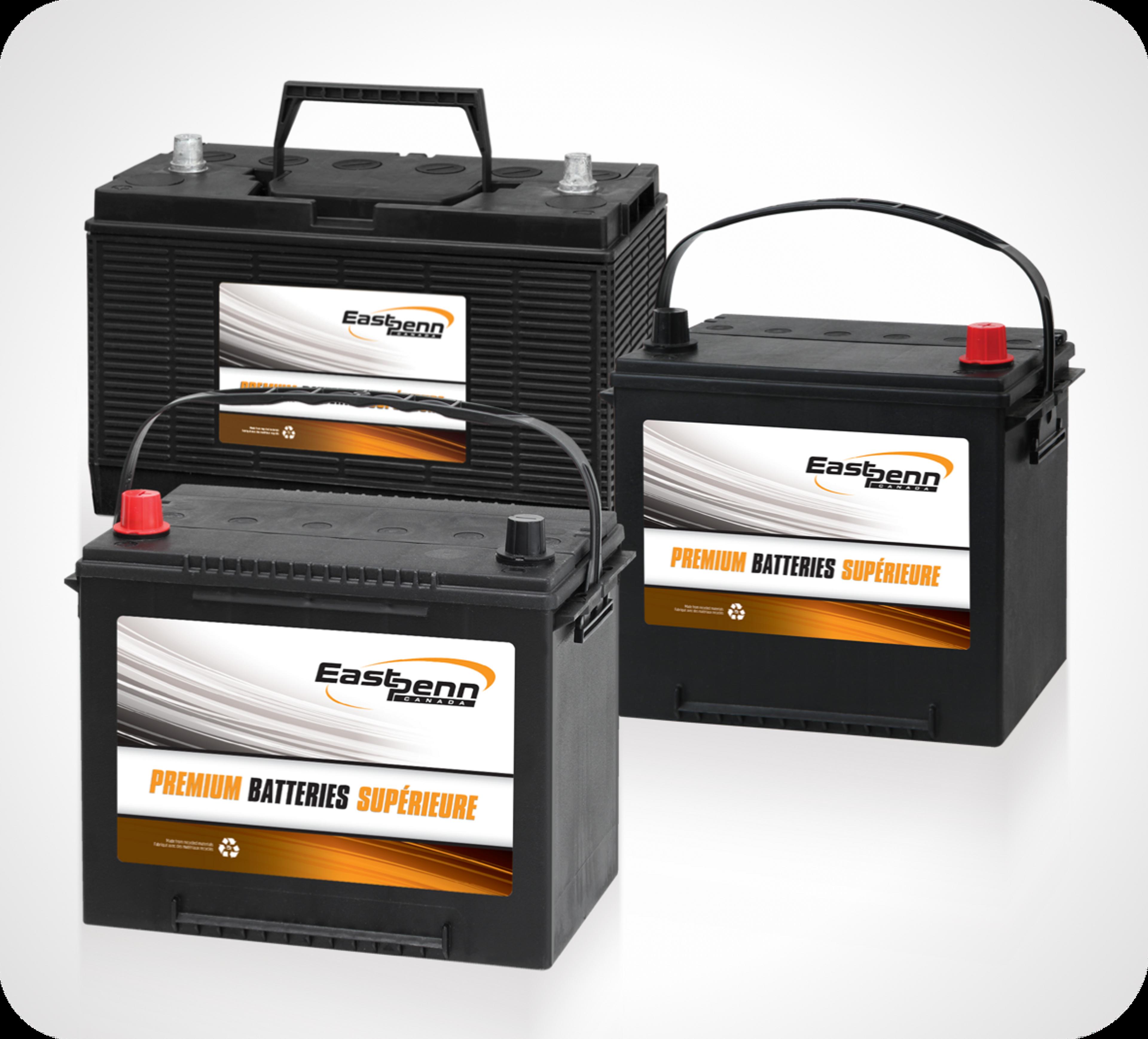 Photo de trois batteries