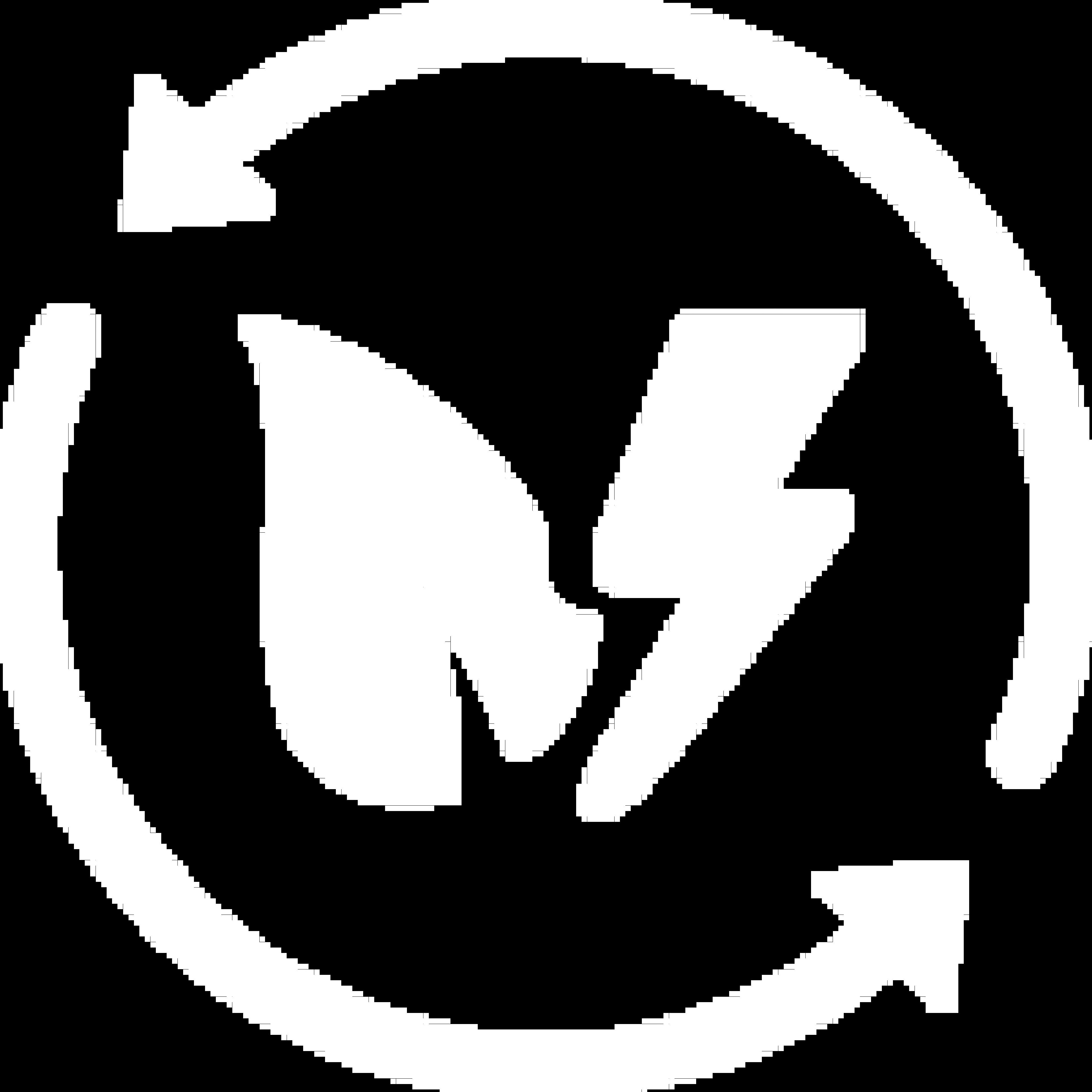 Icône blanche de feuille et cercle