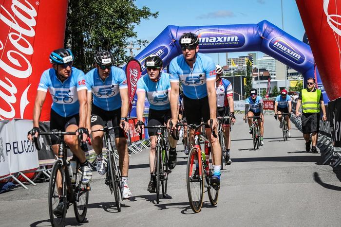 Syklister i konkurranse
