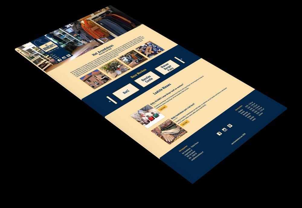 Het Arendshuys website screenshot.