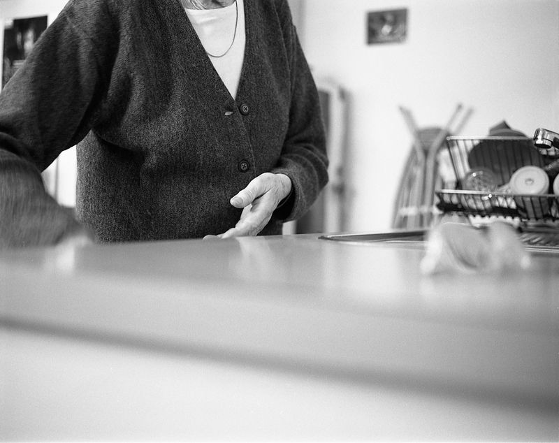 Grandmother in the kitchen