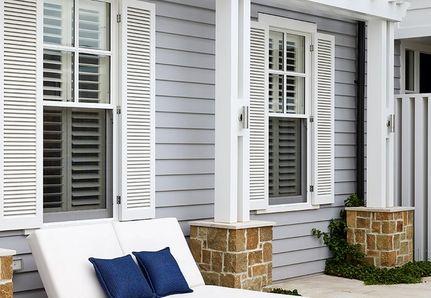 Hamptons exterior and outdoor lounge