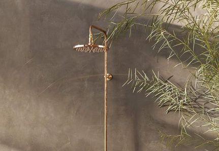 Brass outdoor shower