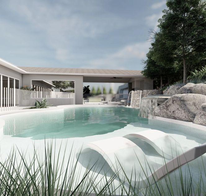 pool side lounge area