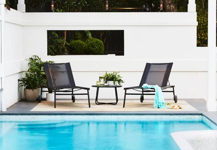 pool side sun lounges