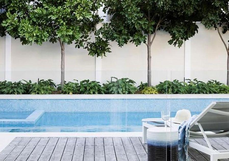 Hamptons style pool and garden