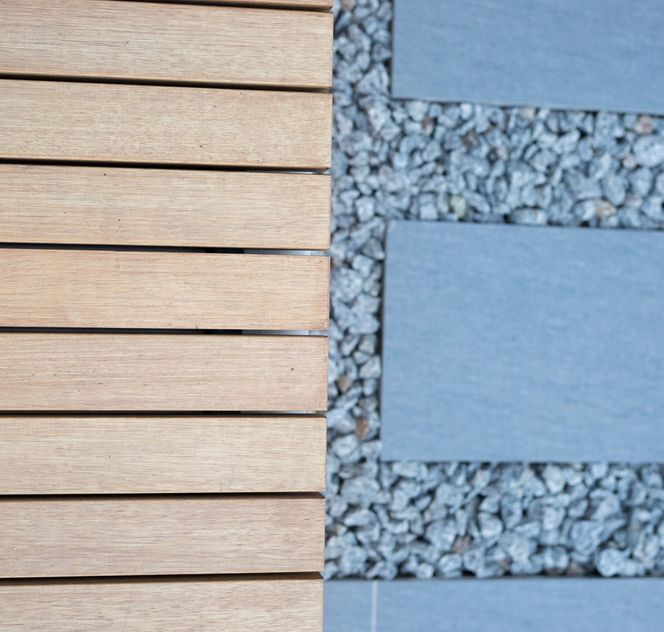 texture details, deck and pavers
