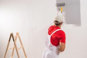 Seinän maalaus telalla