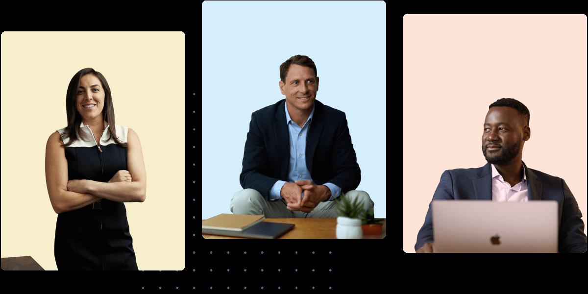 Photo of three financial advisors looking sharp