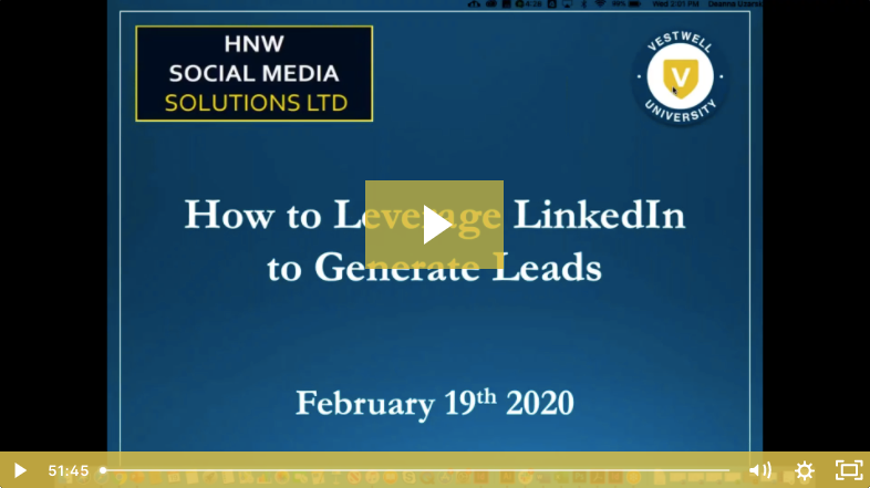 how to leverage linkedin to generate leads video