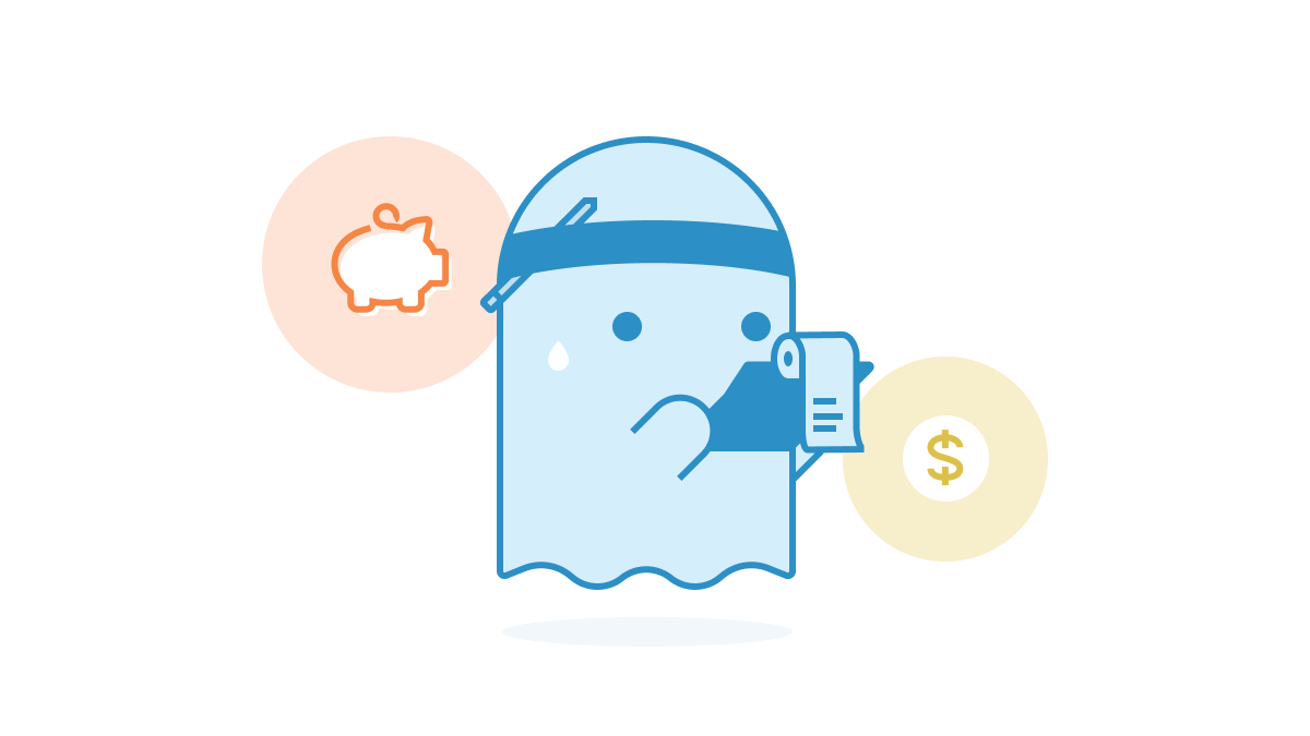 icon of piggy bank and money sign