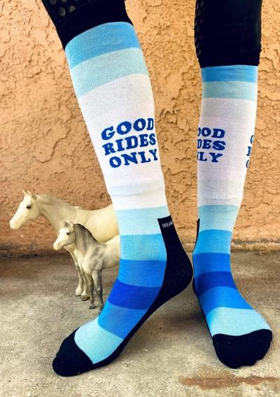 Dreamers & Schemers Knit Boot Socks - Good Rides Only
