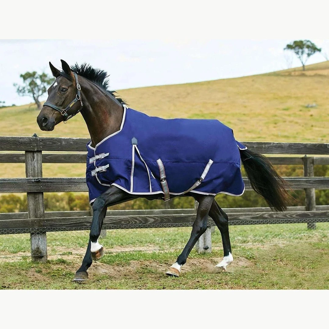 This blanket by WeatherBeeta has nice gusset for running and playing.