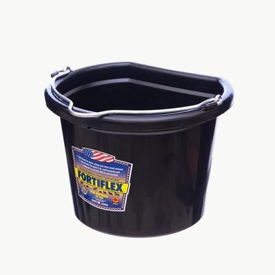 Fortiflex 8 Quart Flat Back Bucket – Rubber-Polyethylene Plastic Blend