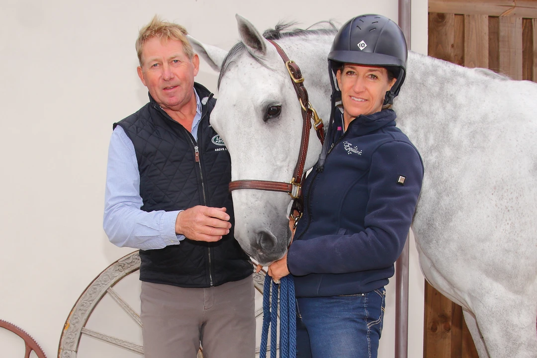Olympians Laura Kraut and Nick Skelton give Kelcie's Treats their stamp of approval. Image courtesy of Kelcie's Horse Treats.