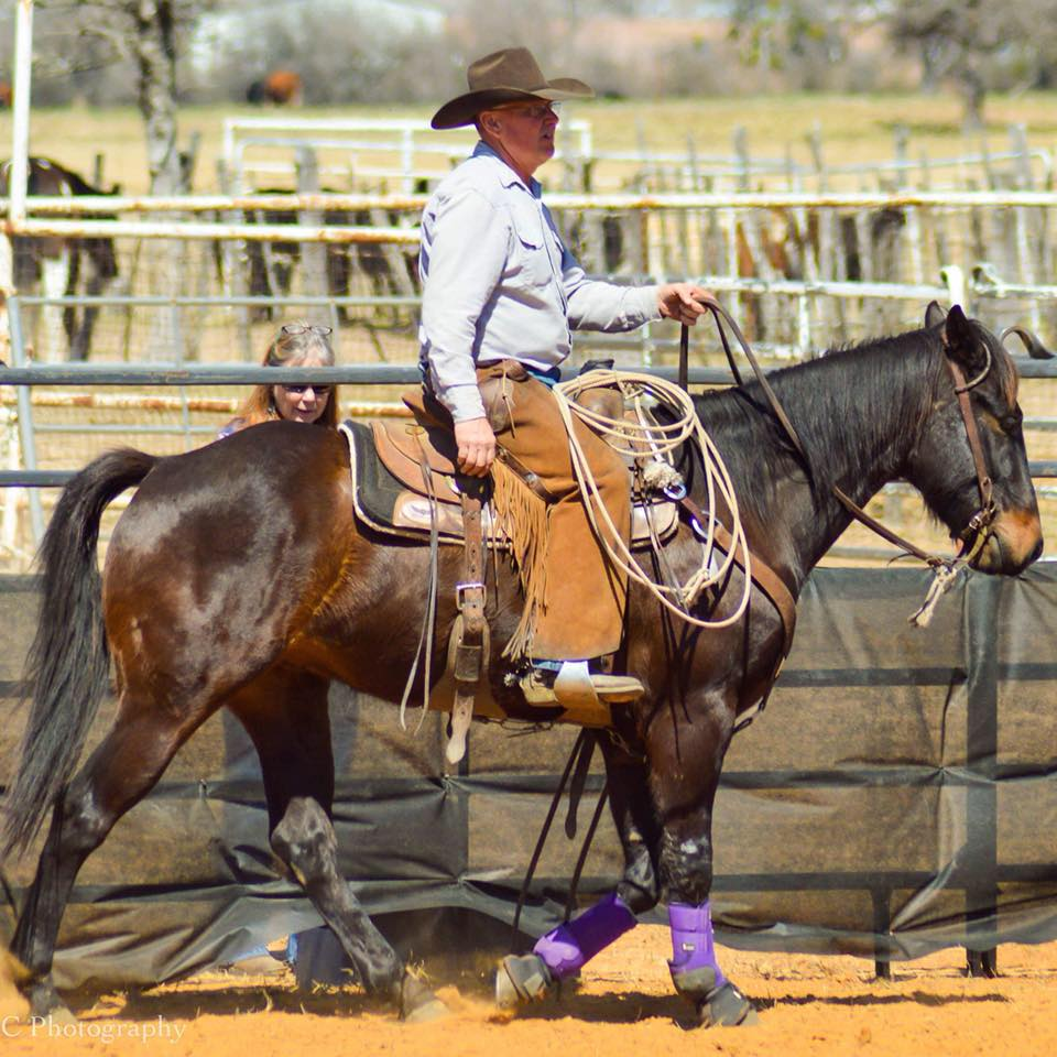 Brent Bennett and his gelding, Badger. Photo courtesy of RC Photography.