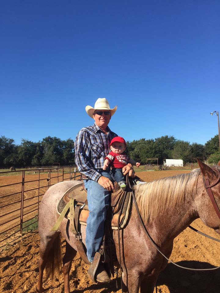 Bennett with his grandson, Charlie. Photo courtesy of Brent Bennett.