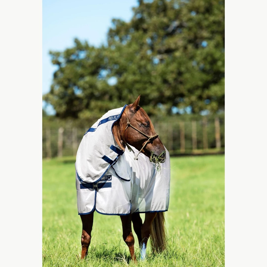 This fly sheet is a good example of a sheet with neck piece/hood.
