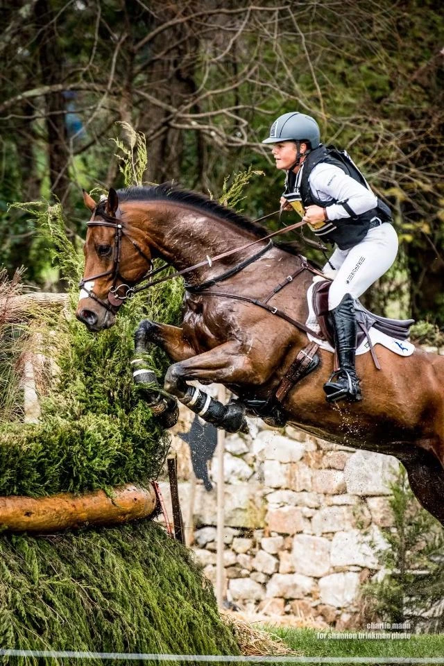 In October 2019, Meg made her debut at the four-star level when she competed in the Fair Hill International CCI4*-L, riding a client's horse named Anakin. Their partnership began three years earlier and they just seemed to click. Photo courtesy of Shannon Brinkman.