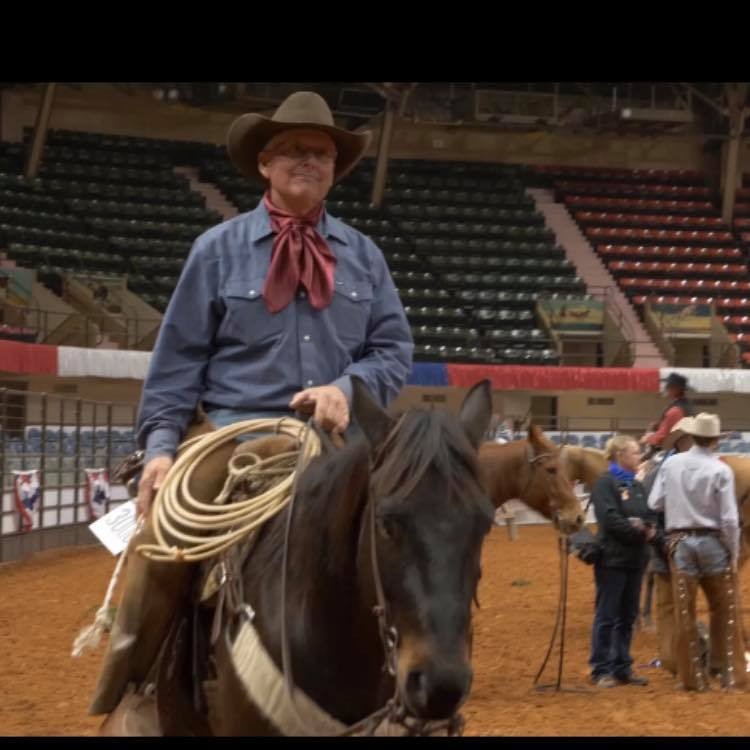 Bennett and Badger at the Fort Worth Stock Show and Rodeo Working Ranch Championships, just after their win. Photo courtesy of Brent Bennett.
