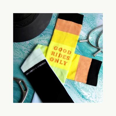 Dreamers & Schemers Good Rides Only Knit Socks