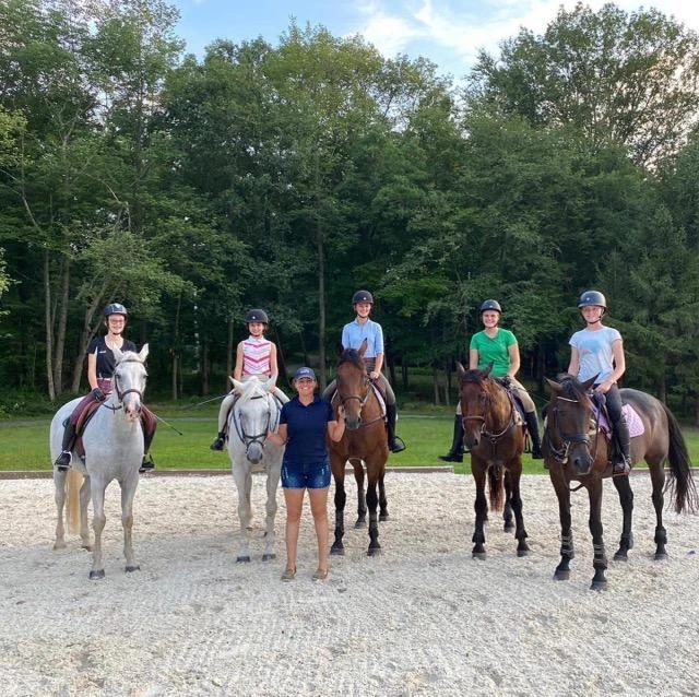 Meg Kep started the Junior Event Team (JET) program where a group of her students come to her farm for regular sessions, mounted and unmounted, and to help them set and work toward their riding goals. Photo courtesy of Meg Kep.