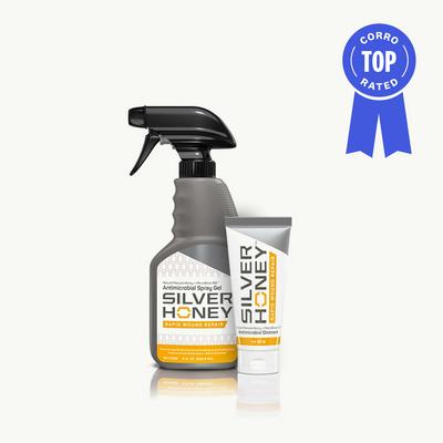 Silver Honey Rapid Wound Repair Ointment or Spray Gel