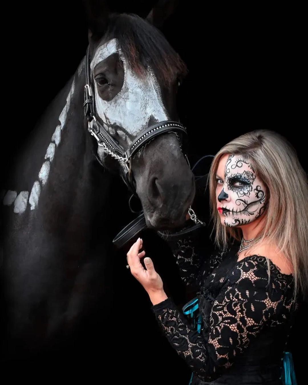 Skeleton Horse & Sugar Skull by Mollie H.