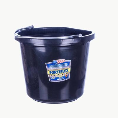 Fortiflex 20 Quart Flat Back Bucket – Fortalloy Rubber-Polyethene Plastic Blend