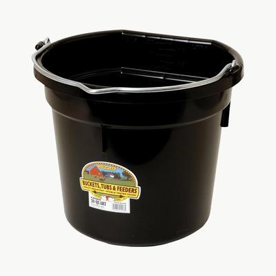 Little Giant Plastic 20 Quart Flat Back Bucket