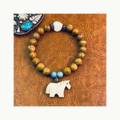 Corro Exclusive: Many Beads of Sedona Heart & Horse Bracelet