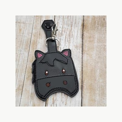 Bow Wow Pet Wear Horse Head Keychain and Hand Sanitizer Holder
