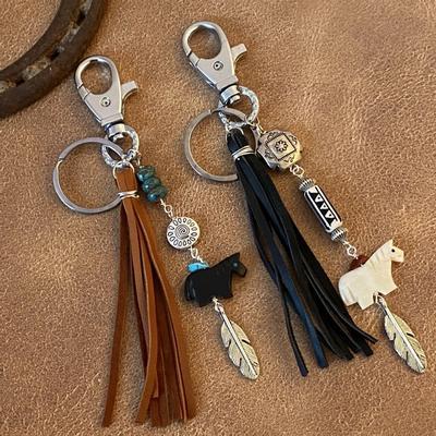 Many Beads of Sedona Horse Purse Tassle/Keychain