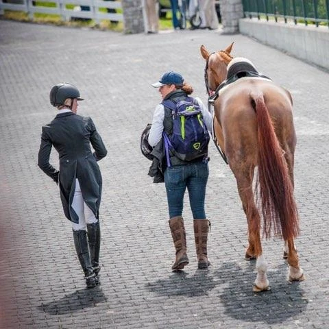 With what a started as a friendship also turned into a great business opportunity for Kep. She ended up managing Sinead Halpin's barn and partnering with her to support the US Eventing Association Area II Young Rider Team. Photo courtesy of Meg Kep.
