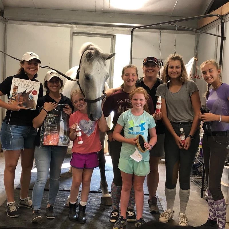 JET includes training off the horse to help make Kep's students better horsemen and horsewomen. Horse care is just as important as what they learn in the ring. Photo courtesy of Meg Kep.