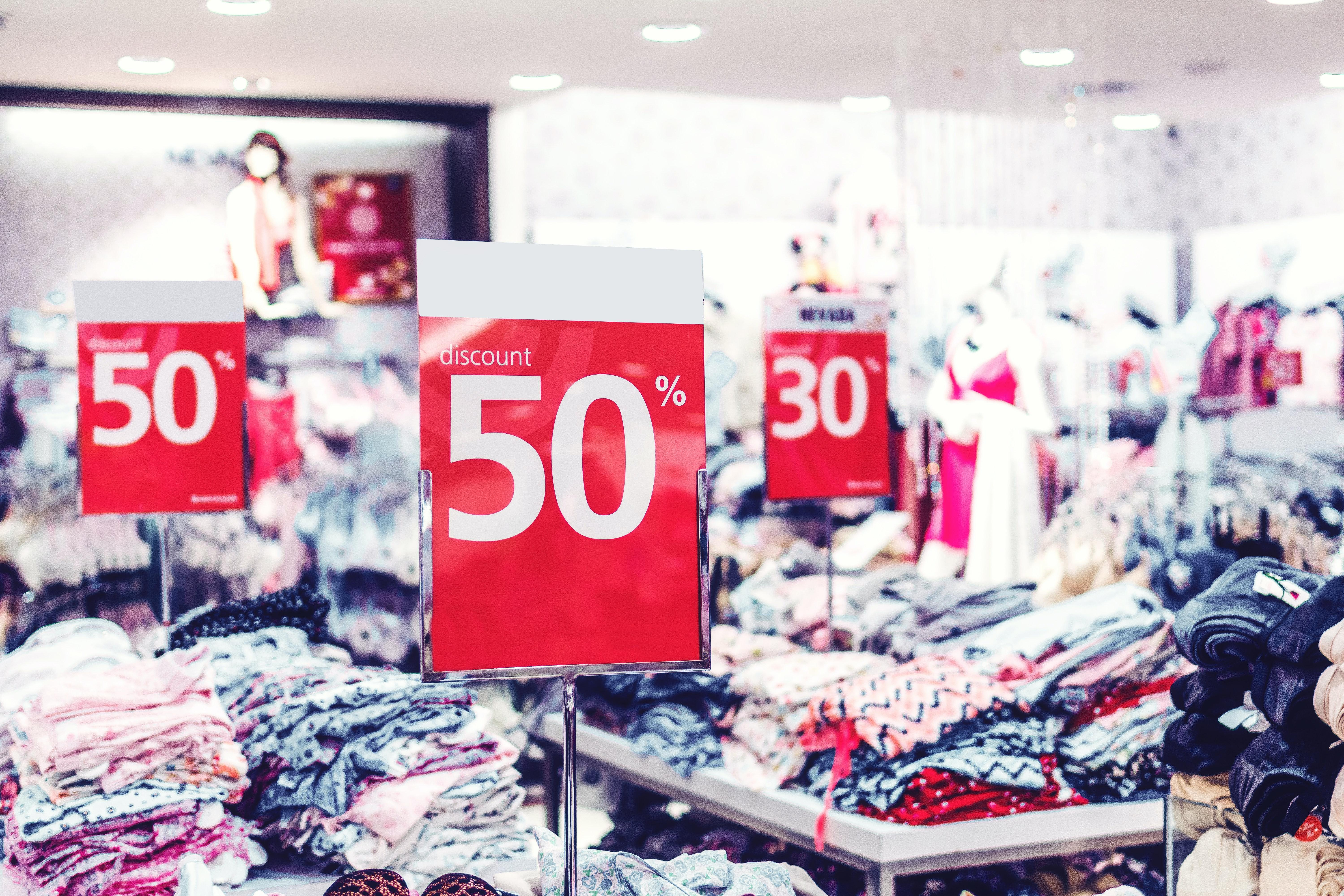 discount in fashion store